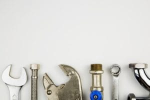 set of plumber tools